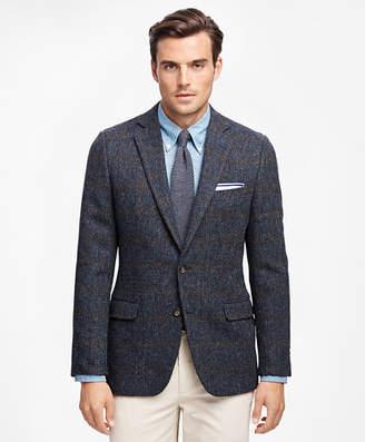 Brooks Brothers Fitzgerald Fit Harris Tweed Tic with Windowpane Sport Coat