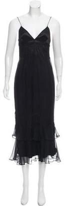 Dolce & Gabbana Lace-Trimmed Silk Dress