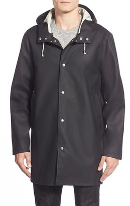 Men's Stutterheim Stockholm Waterproof Hooded Raincoat $295 thestylecure.com