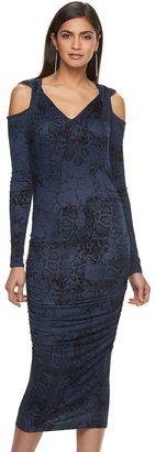 Women's Jennifer Lopez Ruched Cold-Shoulder Sheath Dress $58 thestylecure.com
