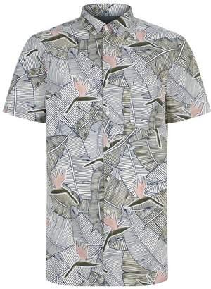 BOSS ORANGE Palm Leaf Printed Shirt