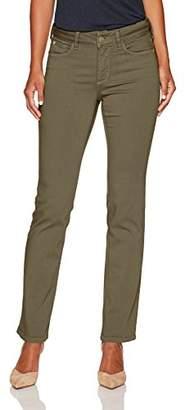 NYDJ Women's Petite Size Marilyn Straight Leg Jeans in Luxury Touch Denim