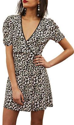 Topshop TALL Leopard-Print Mini Dress