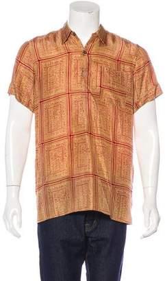 Dries Van Noten Hieroglyphic Print Pullover Shirt