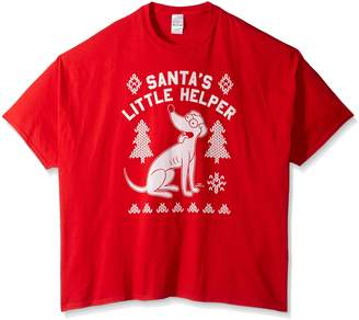 The Simpsons Men's Big and Tall Santa's Little Helper Ugly Christmas T-Shirt B&T