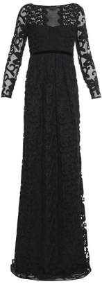 Burberry Prorsum - Floral Cotton Blend Lace Gown - Womens - Black
