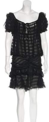 Christian Dior Gathered Silk Dress