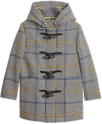 Burberry Houndstooth Check Duffle Coat