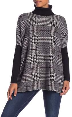 Joseph A Houndstooth Turtleneck Sweater