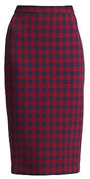 A.L.C. Women's Thea Check Wool Pencil Skirt