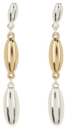 14th & Union Two-Tone Oval Linear Earrings