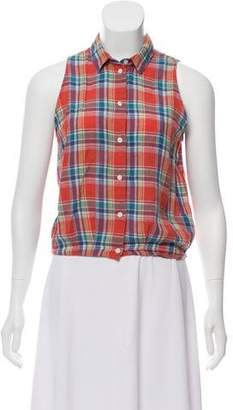 Boy By Band Of Outsiders Sleeveless Plaid Top