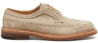Alden Exclusive Suede Longwing Blucher in Milkshake