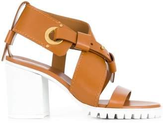Chloé strappy chunky mid heel sandal