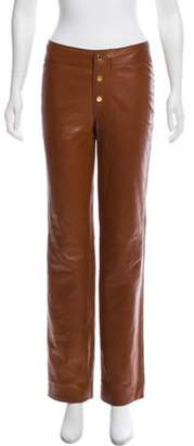 Gucci Wide-Leg Leather Pants Brown Wide-Leg Leather Pants
