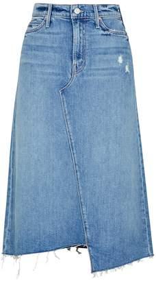Mother Misbeliever Denim Midi Skirt