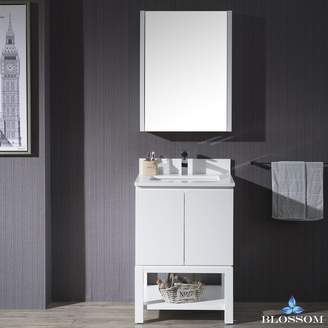 "BLOSSOM 000-24-01-MC Monaco 24"" Vanity Set with Medicine Cabinet"
