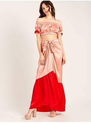 Morgan Lane Abi Skirt In Rose Cherry