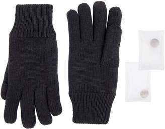 Unbranded Men's Knit Gloves with Reusable Built-in Handwarmers