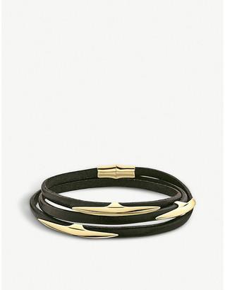 Shaun Leane Arc multi-strap gold vermeil and leather wrap bracelet