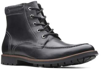 Clarks Curington Leather Lace-Up Boot