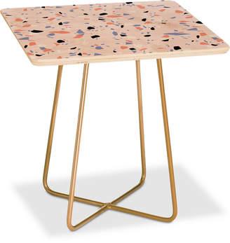 Deny Designs Emanuela Carratoni Sweet Terrazzo Texture Square Side Table