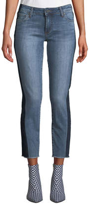 KUT from the Kloth Reese Straight-Leg Jeans w/ Shadow Stripe