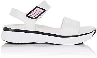 Prada Women's Leather Ankle-Strap Platform Sandals