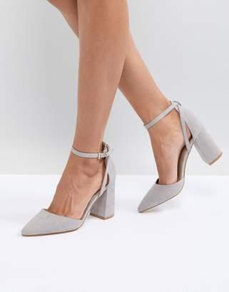 Raid RAID Katy Grey Block Heeled Shoes c3047cc214b9