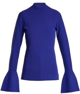 Diane von Furstenberg Bell-cuff stretch-knit top