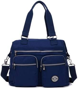 deb37948e9 JINQIAOER Women s Nylon Shoulder Bags Messenger Handbags Multi Pocket  Waterproof Crossbody Bag