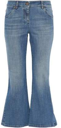 Brunello Cucinelli Faded Low-Rise Kick-Flare Jeans