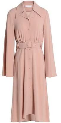 Co Belted Crepe Dress
