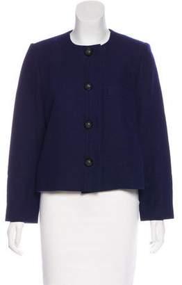 Chloé Collarless Wool Jacket