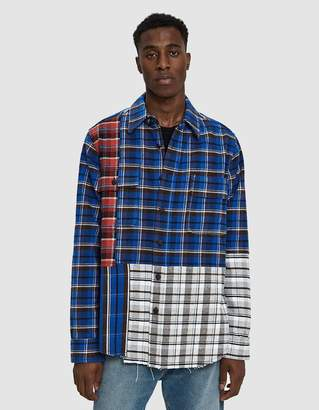 Off-White Off White Check Reconstructed Button Up Shirt