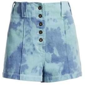 3.1 Phillip Lim Tie-Dye Denim Shorts