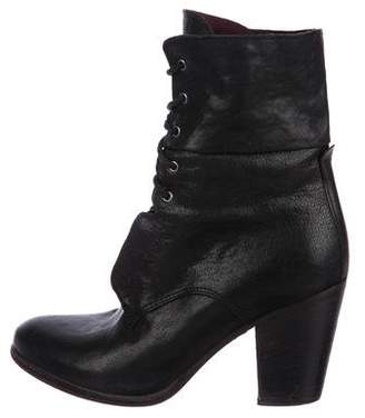 Rag & Bone Leather Lace-Up Ankle Boots