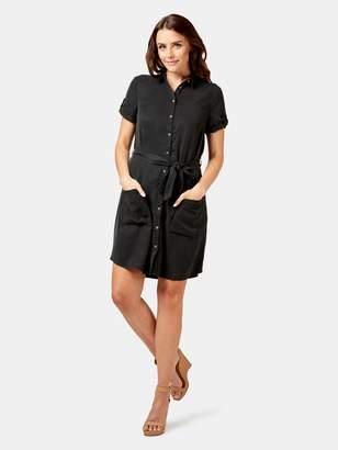 Jeanswest Erika Tencel Short Sleeve Shirt Dress