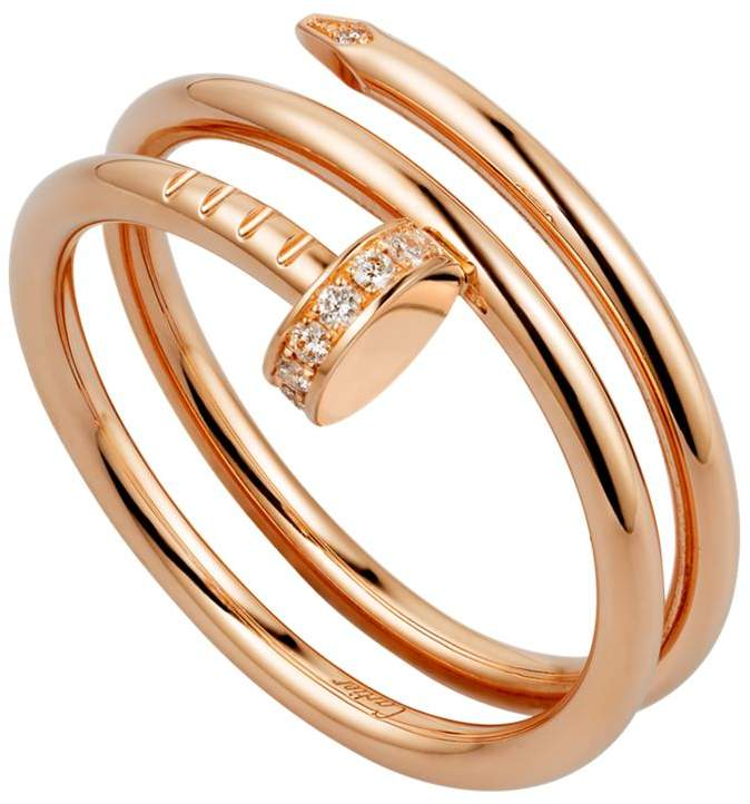 Pink Gold and Diamond Double Juste un Clou Ring