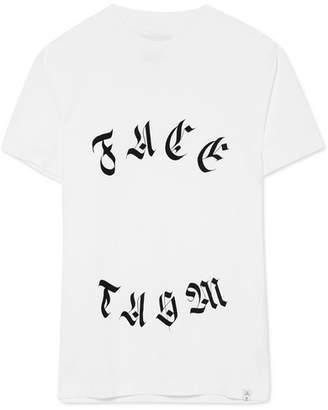 Facetasm Printed Cotton-jersey T-shirt