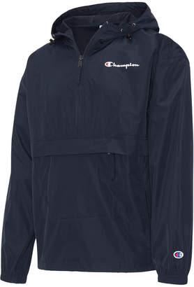 Champion Men Packable Half-Zip Hooded Water-Resistant Jacket