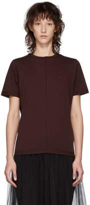 Yang Li SSENSE Exclusive Purple Overlock T-Shirt