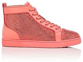 Christian Louboutin Men's Louis Orlato Flat Satin Sneakers