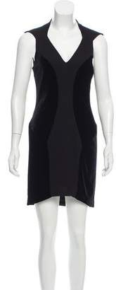 Helmut Lang Velvet-Accented Mini Dress