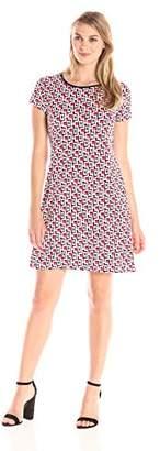Tiana B Women's Geo Print A-line Dress