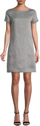 Theory Structured Linen-Blend Tee Dress