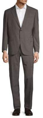 Canali Notch Lapel Micro Houndstooth Wool Suit