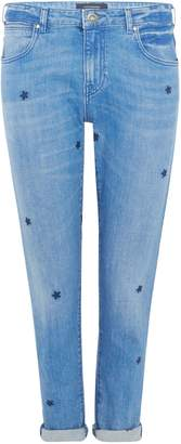 Maison Scotch Jeans With Embroidered Stars