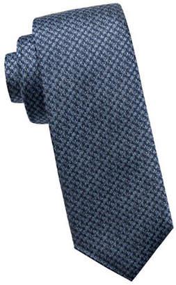 Vince Camuto Slim Silk Herringbone Tie
