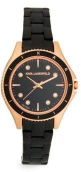 Karl Lagerfeld Jan Rose-Goldtone Stainless Steel Bracelet watch